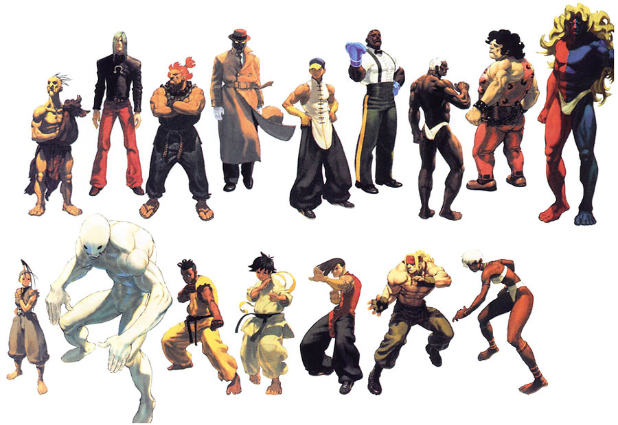 street fighter characters - 900×620