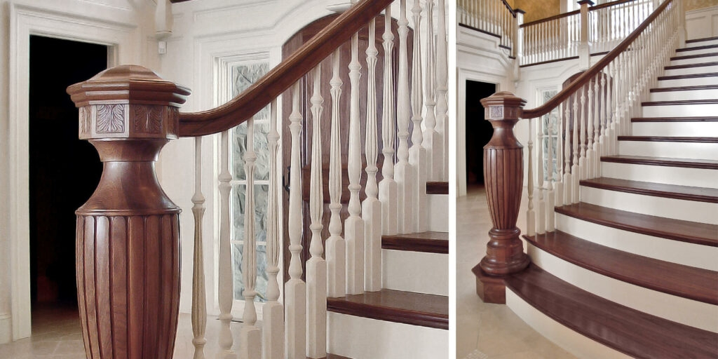 Custom Newel Post Roundup – Horner Millwork | Modern Newel Post Designs | Contemporary | Maple | Staircase Spindle | Modern Box | Hollow