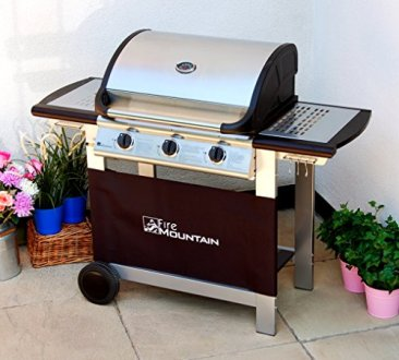 Everest 3 Burner Gas Barbecue   Stainless Steel  Cast Iron Burners     Everest 3 Burner Gas Barbecue Stainless Steel Cast