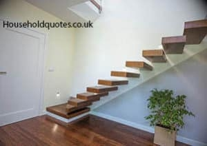 How Much Will A New Staircase Cost   Converting Spiral Staircase To Straight   Wood   House   Stair Case   U Shaped   Loft Conversion