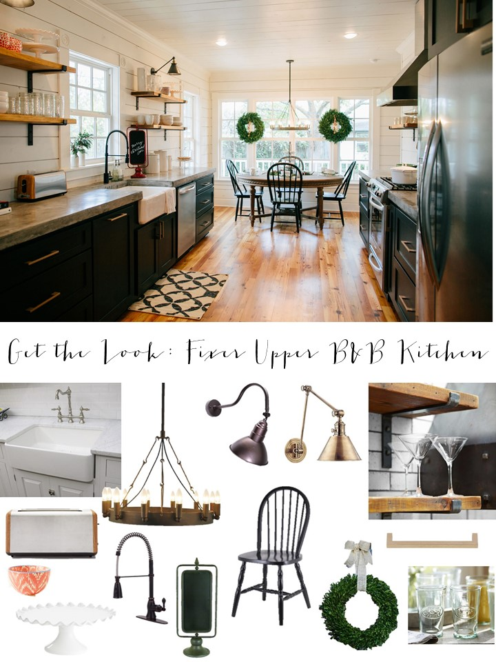 Get The Look Fixer Upper B Amp B Farmhouse Kitchen House Of
