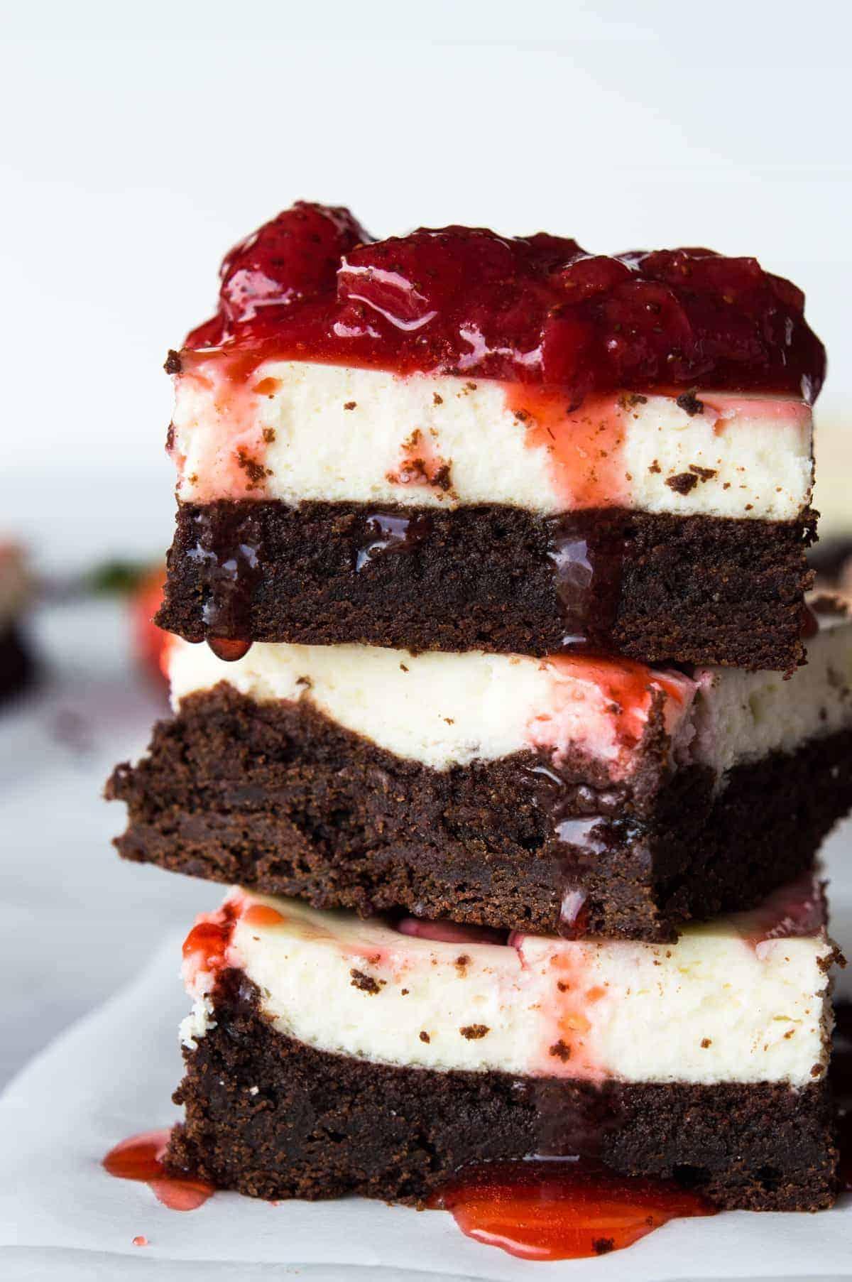 Strawberry Cheesecake Brownies House Of Yumm