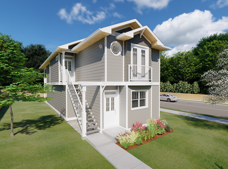 3 Story Narrow Lot House Plans