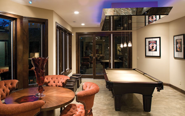 Billiards Room Ideas   House Plans and More contemporary style billiards room