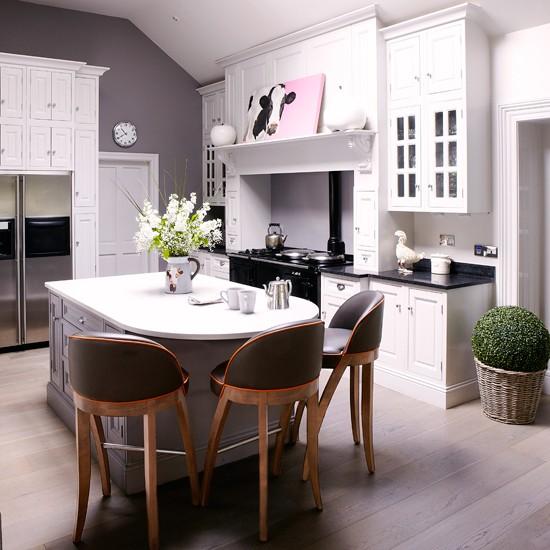 White Modern Country Kitchen