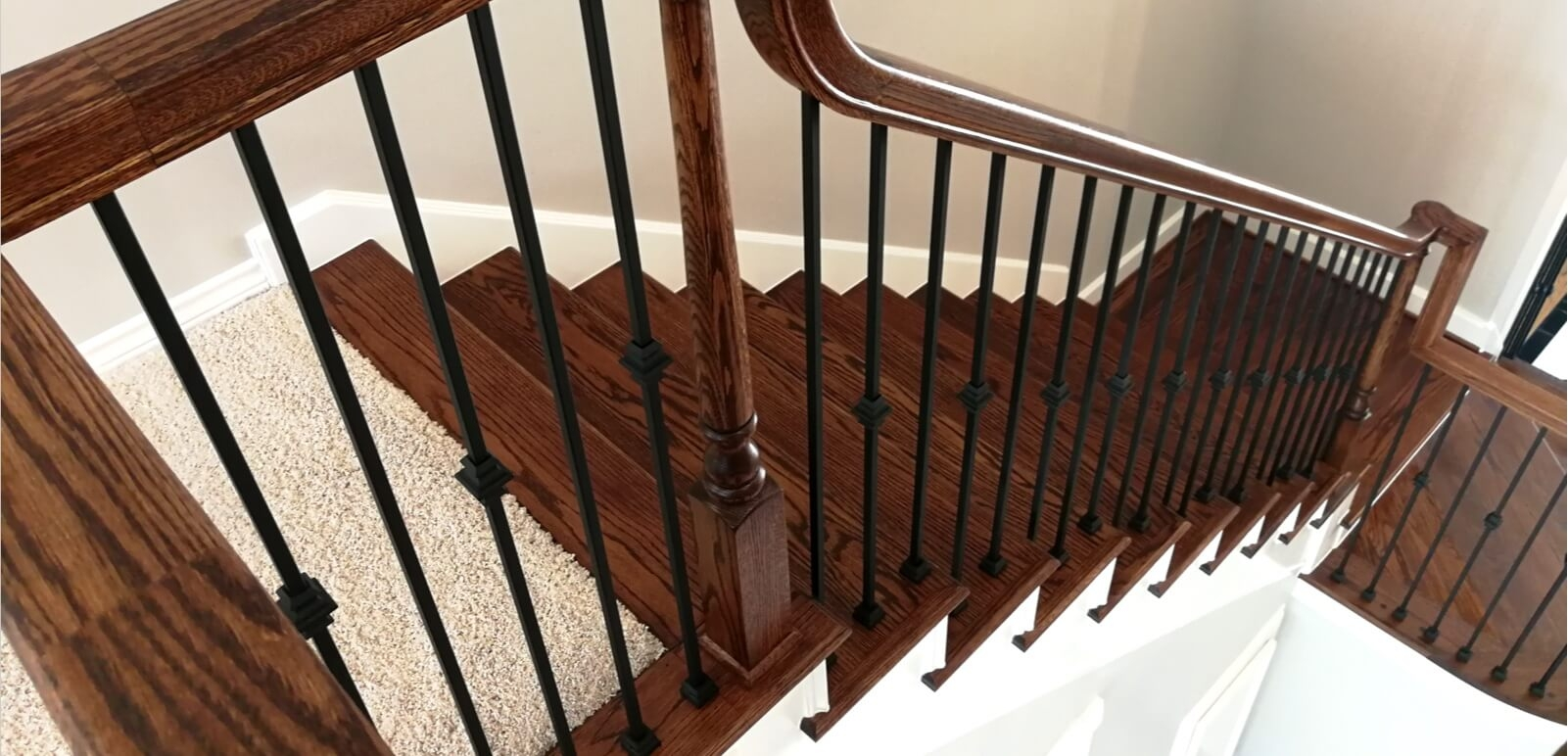 Houston Stair Parts Stair Remodel Iron Balusters Railing | Staircase Companies Near Me | Wrought Iron Balusters | Stair Remodel | Stair Parts | Stair Stringers | Stair Railing