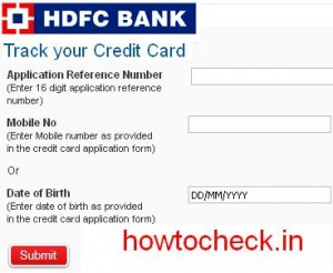 How To Check Hdfc Bank Credit Card Status at hdfcbank.com