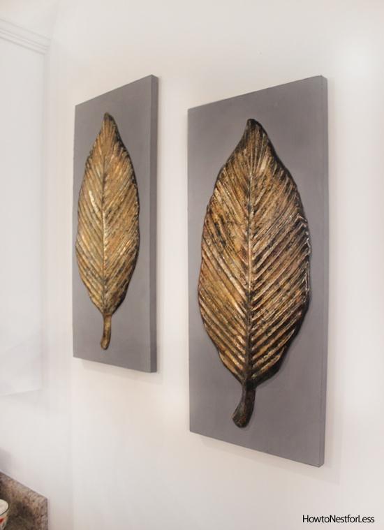 Wall Art Gold Leaf