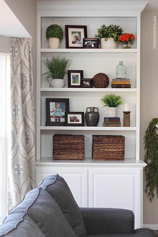 Decorating Shelves Living Room