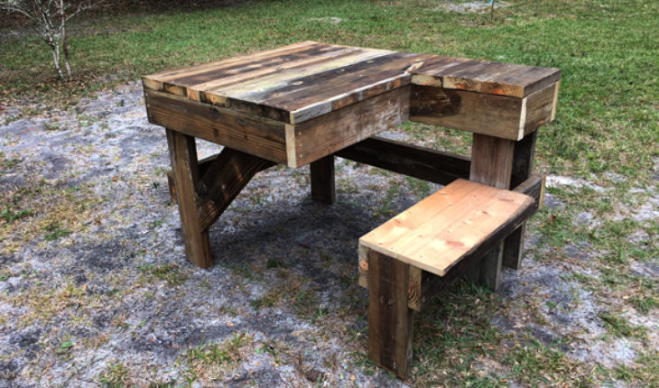 Diy Recycled Wood Shooting Bench Howtospecialist How