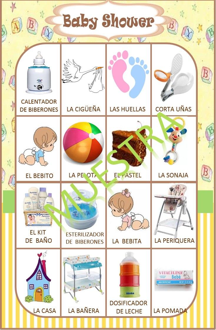 Loteria Para Baby Shower Para Imprimir Gratis