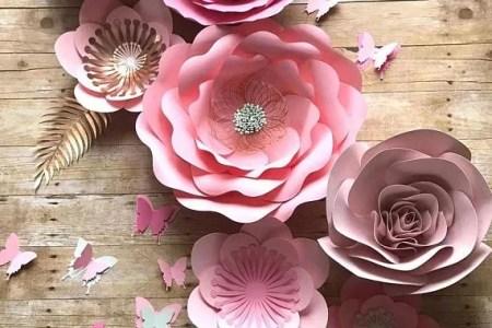 Moldes De Flores De Papel Para Imprimir Gratis
