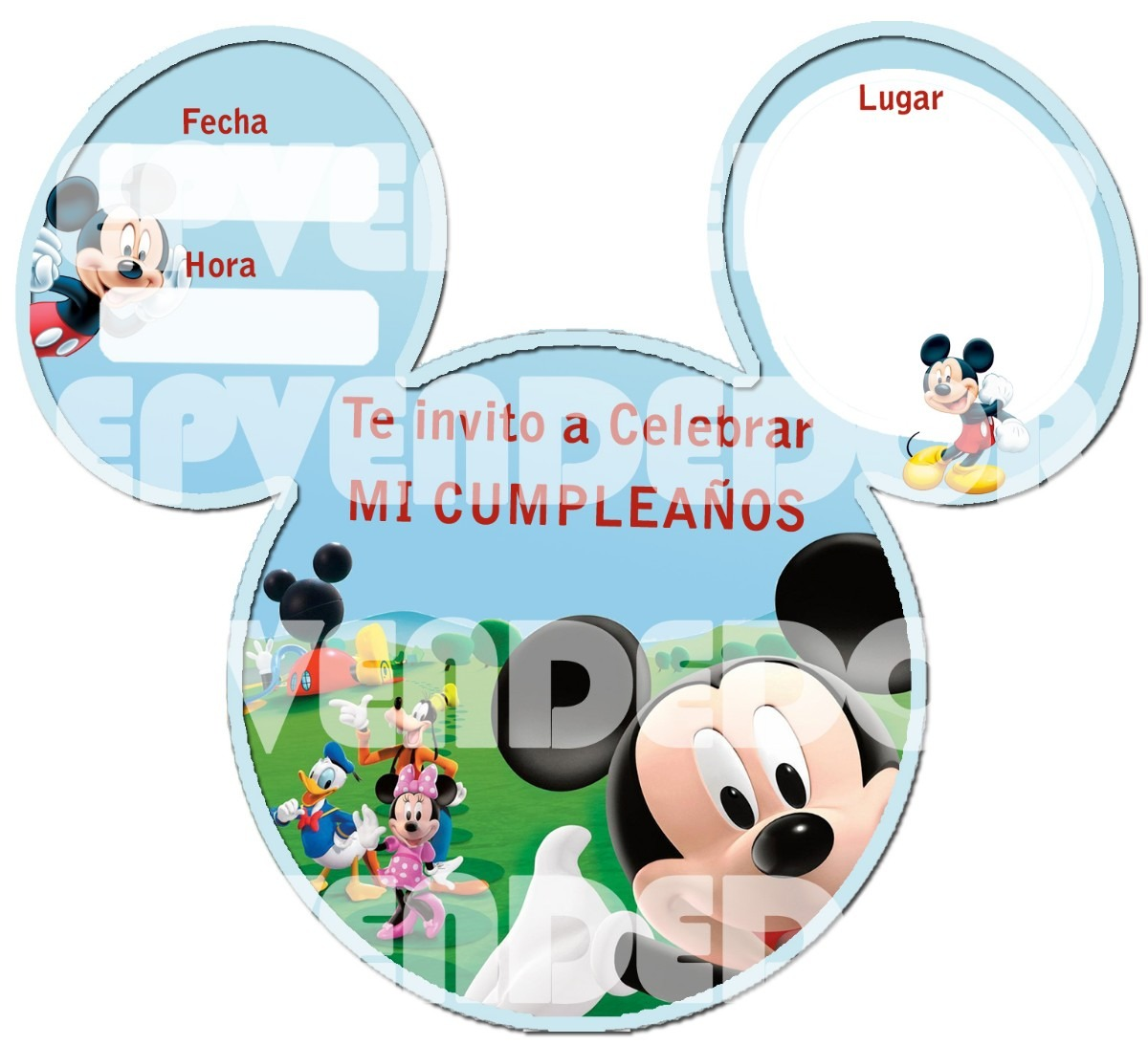De Baby Shower Como Mouse Minnie Invitaciones Para Hacer