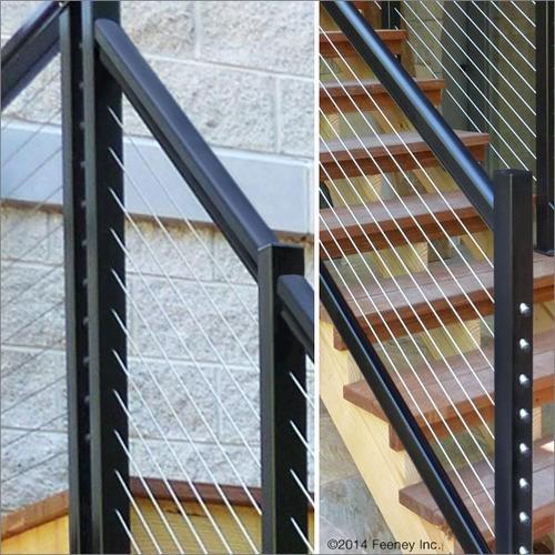 Feeney® Designrail® 72 Aluminum Rail Kit For Stair Railings At | Black Aluminum Stair Railing | Exterior | Modern | Steel | Cable Rail | Deckorators