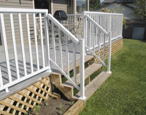 Railblazers® Aluminum Stair Hand And Base Rail Bracket Kit | Outdoor Stair Railing Menards