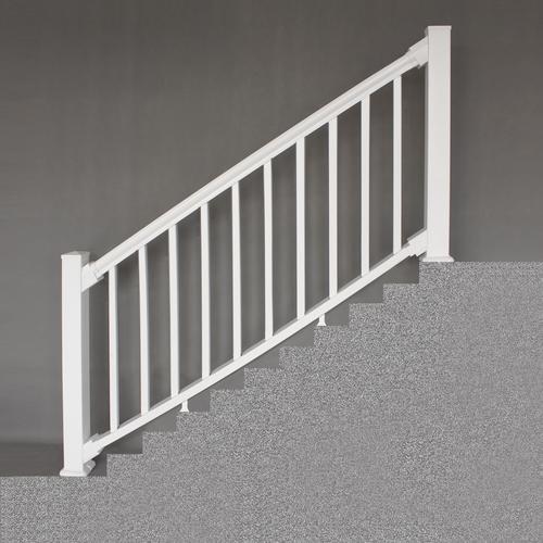 Designer S Image® 36 X 6 Premium Classic Vinyl Railing At Menards® | Pvc Railings For Steps | 3 Step | Plastic | Corner Interior Stair | Steel Vertical Balustrade White Handrail Post | Design