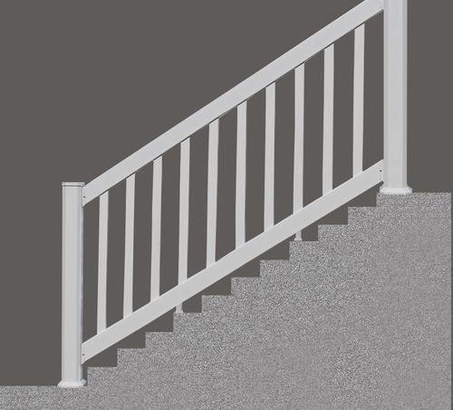 Designer S Image® 6 X 3 Classic Vinyl Section At Menards® | Outdoor Stair Railing Menards