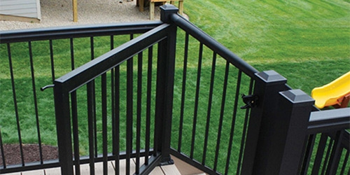 Exterior Railings Gates At Menards®   Metal Handrails For Decks   Small Deck   Outdoor   Residential   Metal Rope   Decorative