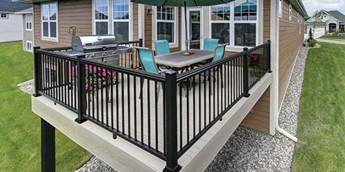 Exterior Railings Gates At Menards® | Black Iron Pipe Handrail | Cast Iron | Horizontal Pipe | Paint Pipe | Stair Outdoor Decatur | Railing Aluminium Pipe