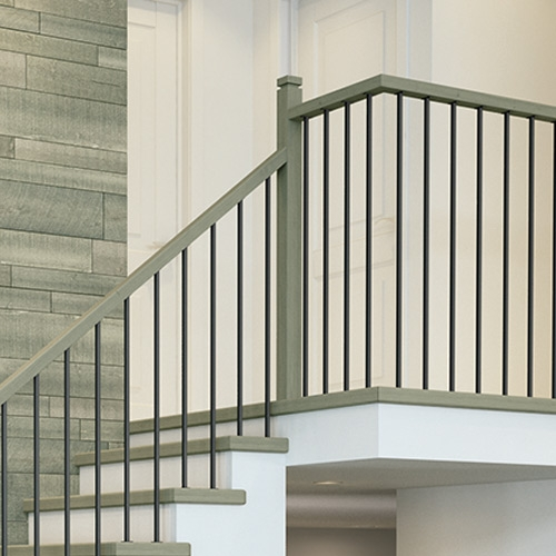 Millwork Staircase Systems Accessories At Menards®   Stair Posts And Spindles   Landing   Natural Hardwood   Rectangular   Traditional   Wood