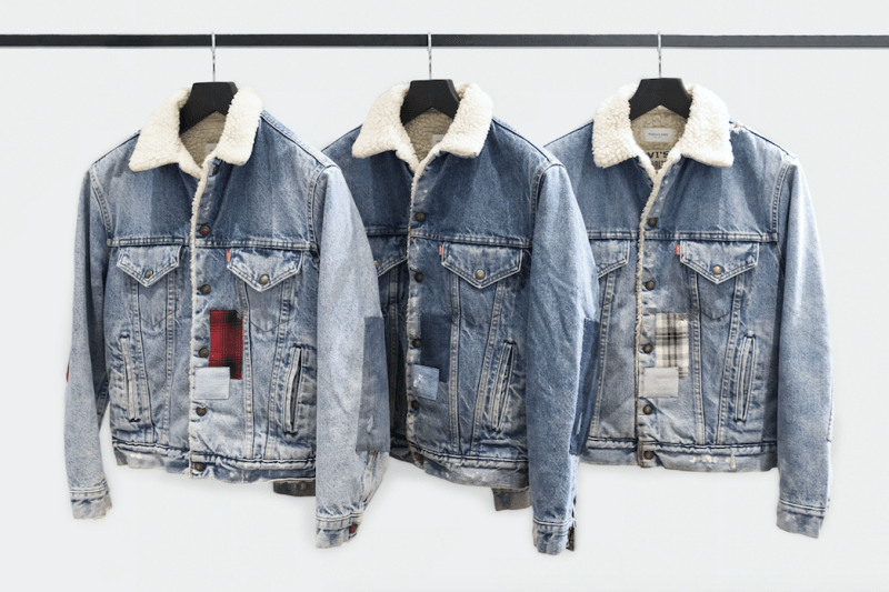 Ovadia and Sons Levis Vintage Patchwork Truckers Sherpa Archival New York Handstitch handsewn collaboration 2018 January 25