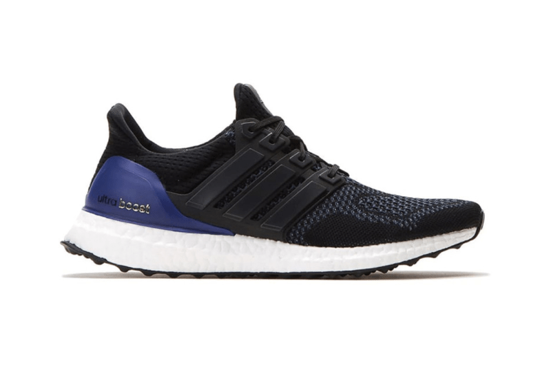 adidas UltraBOOST OG blue heel Black lacing outsole white cushioning 2018 release date info drops sneakers footwear shoes silhouette