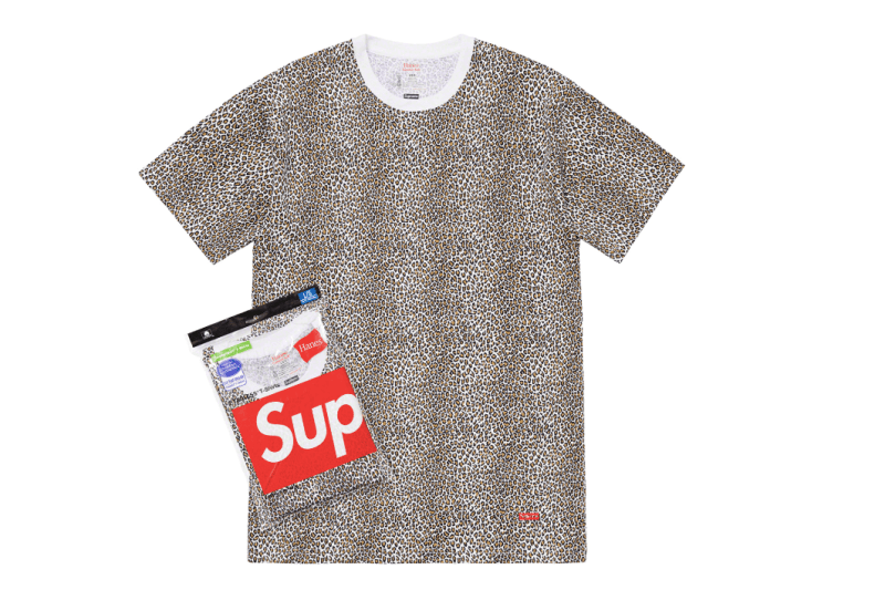Supreme Spring/Summer 2019 Accessories Leopard Print Tees Hanes