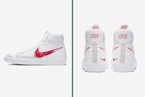 """Nike Blazer Mid '77 Vintage """"Red Sketch"""" Adds Doodled Details"""