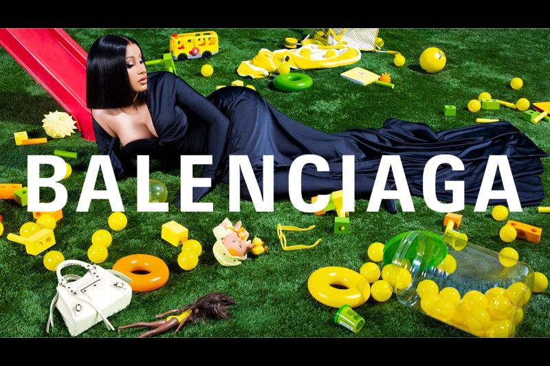 Cardi B Balenciaga Winter 2020 Campaign, Louvre museum advertisement fall imagery exterior