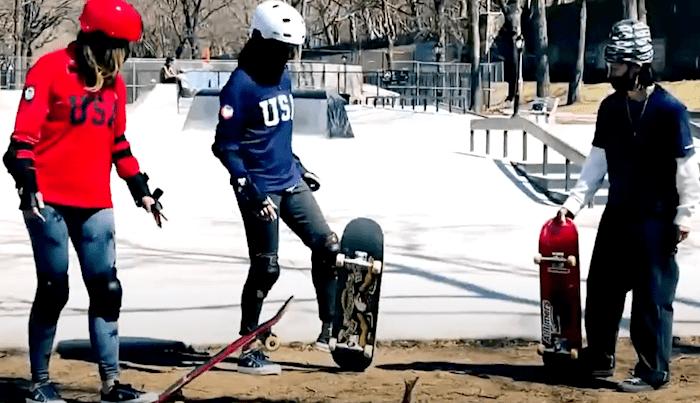 Alexis Sablone Skate-Coaches 'Today' Show's Hoda & Jenna