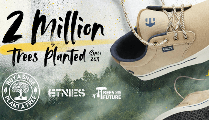 Etnies Expands Buy a Shoe, Plant a Tree Program to Include Fighting Poverty & Environmental Decay