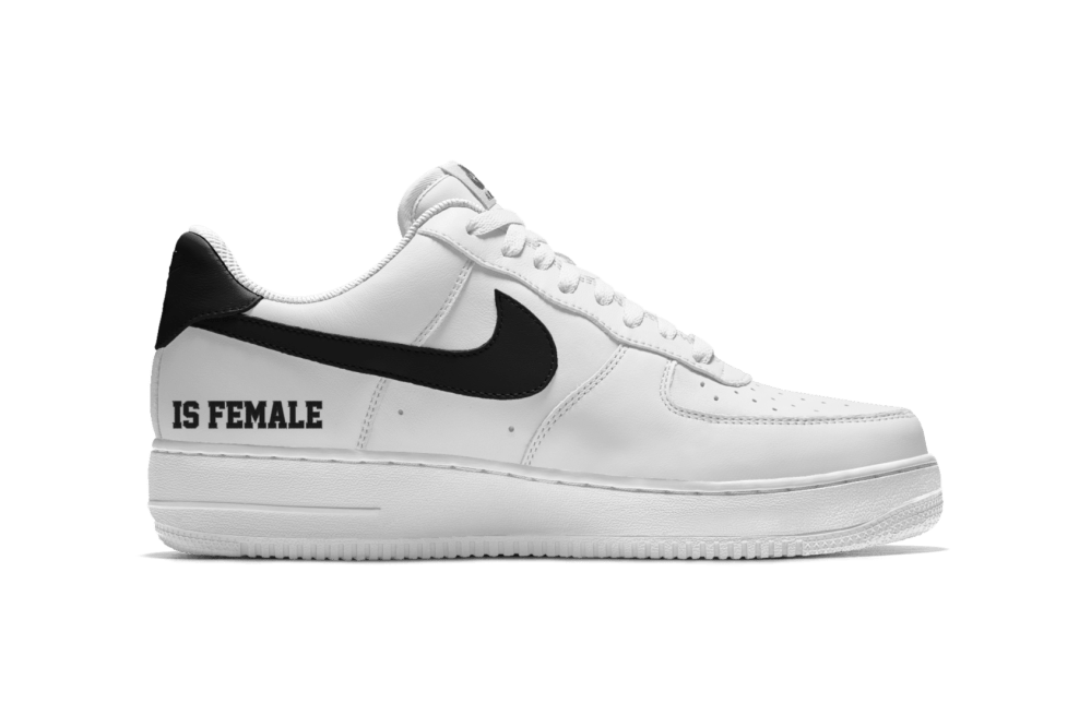 more photos ffa57 3cd90 Customize the Nike Air Force 1 With The Force Is Female ...