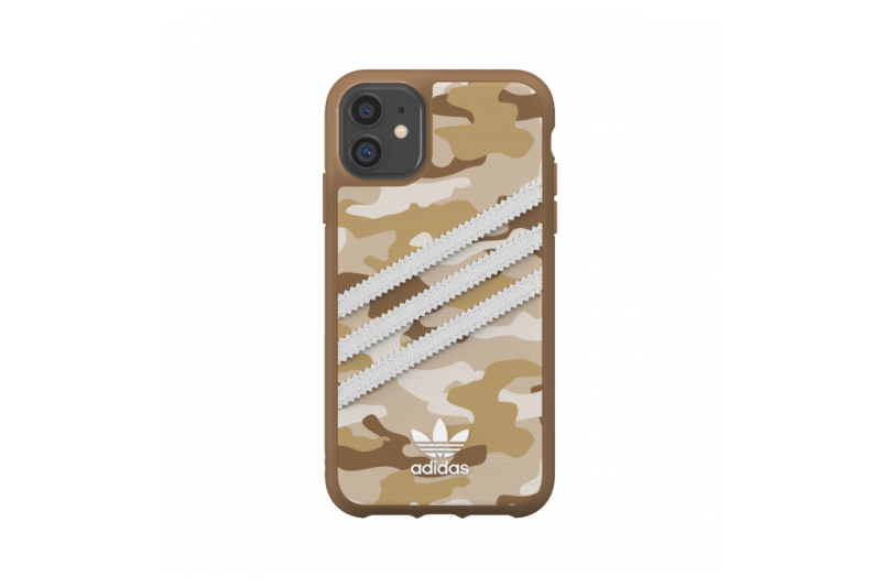 adidas Originals iPhone 11 Case 3-Stripes Camo Raw Gold