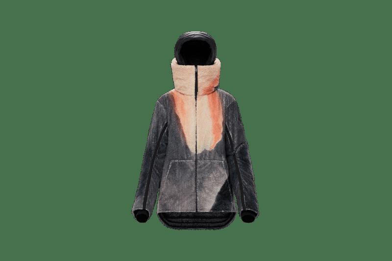 6 MONCLER 1017 ALYX 9SM Collection Fleece Jacket Grey Orange