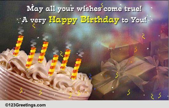 Candles Happy Birthday Cake
