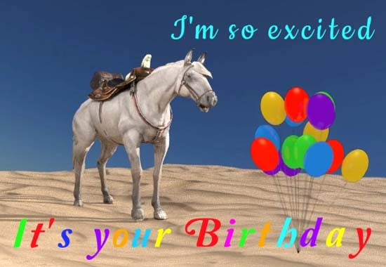 Bucking Birthday Horse Free Happy Birthday Ecards