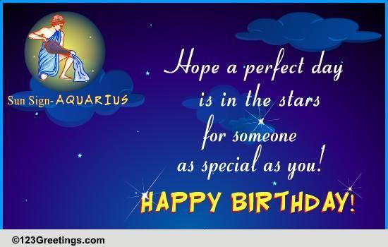 Happy Birthday Aquarius Free Zodiac Ecards Greeting