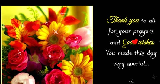 Thank You So Much For Your Prayers Free Flowers Ecards