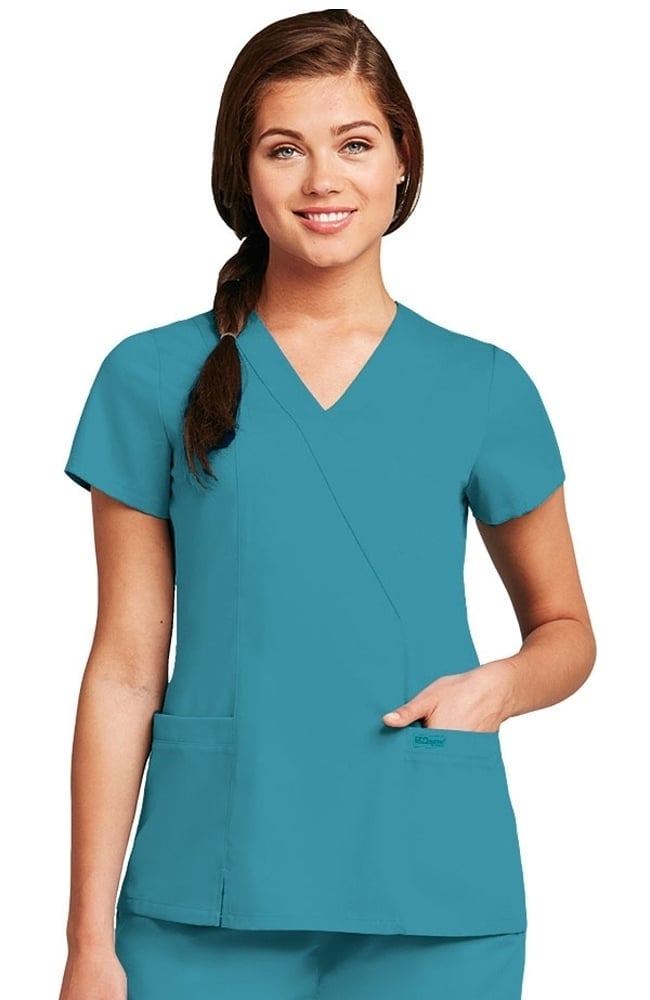 Grey's Anatomy™ Women's Wrap with Princess Seams Solid ...