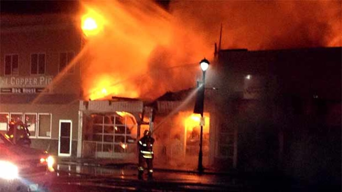 Prince George Fire Hits Downtown Building British