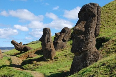 Moai on Rapa Nui (a.k.a. Easter Island) - Cheezburger - Funny Memes | Funny Pictures