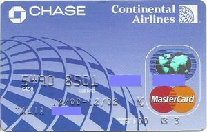 continental airlines credit card - 300×192