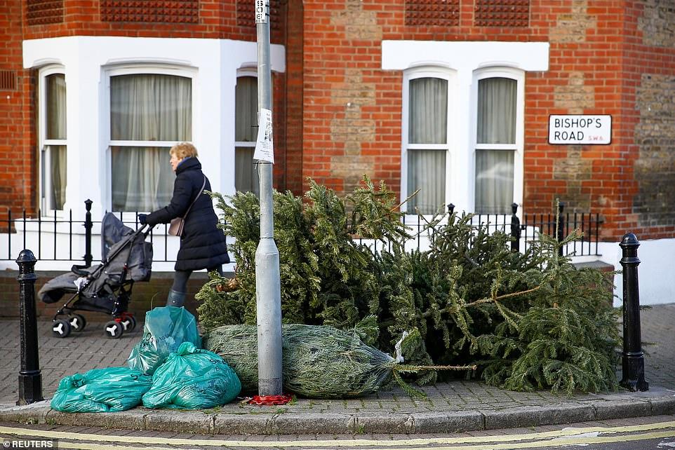 Away Trees Throwing Pre Lit Christmas