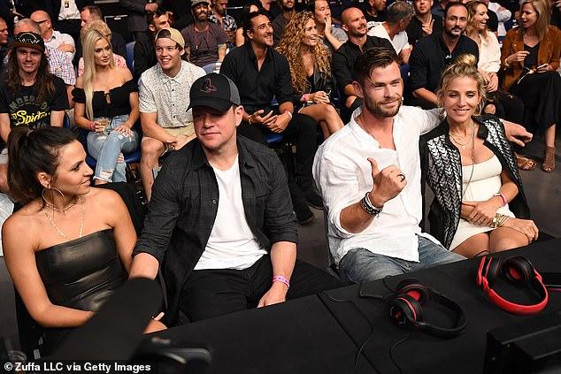 Chris Hemsworth Elsa Pataky And Matt Damon Attend Ufc