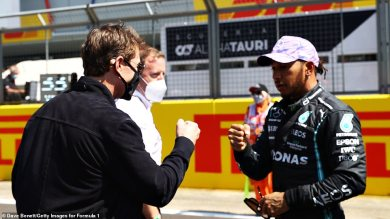 Tom Cruise spends the day visiting Silverstone forward of the British Grand Prix