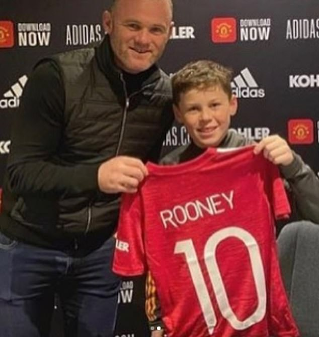 United legend Rooney spoke of his pride when his offspring joined his old club last December