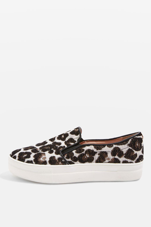 Steve Madden Leopard Slip Sneakers
