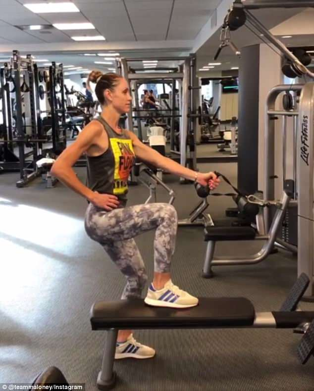 Lara Trump Shows Off Her Muscular Arms As She Does A
