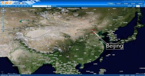 China launches Google Earth rival with online satellite mapping     map