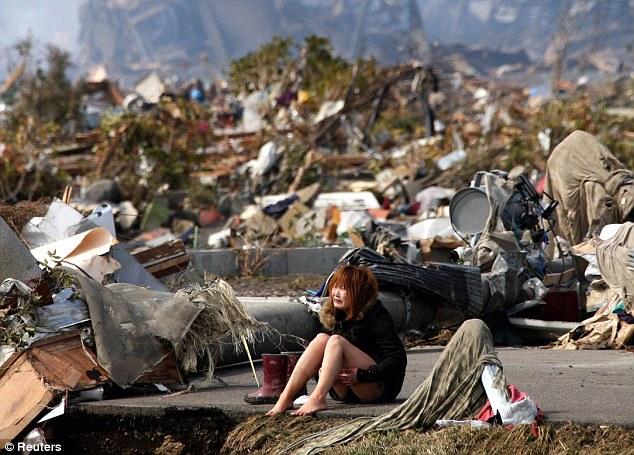 Japan Tsunami 2011 Girl Dogs